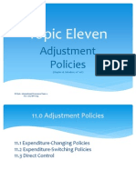 Topic 11 - Adjustment Policies