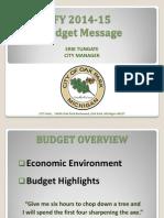 Oak Park budget highlights