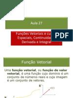 27_Funções Vetoriais_Derivada_Integral.pps