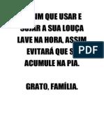 AVISO LOUÇA