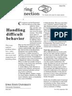 Handling Difficult Patient Behaviors