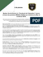 29 avril 2014 - Communiqué de Presse - Beebac lance les MOOCs de révision Bac et Brevet 2014