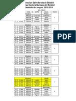 Calendario XII Liga Nacional Amigos Del Beisbol 2013-2014