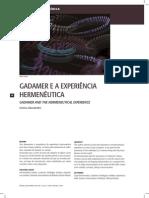 Gadamer e a Experiencia Hermeneutica Juridica