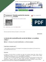 Revista Austral de Ciencias Sociales - _b_La Teoría de La Estratificación Social de Weber__b__ _b_un Análisis Crítico__b