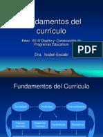 Fundamentos Del Currículo