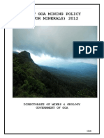 Draft Mining Policy 2012