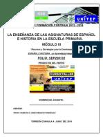 m3 Formato Productos Módulo III -Curso-taller- La Enseñanza Del Español y La Historia -2013-2014-Unitep053-Atp-fjir-unitep