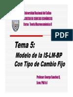 Tema 5 Modelo de La is Lm Bp Con Tipo de Cambio Fijo