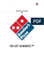 final term project for dominos pizza