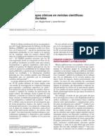 Publicación de Ensayos Clínicos en Revistas Científica Consideraciones Editoriales