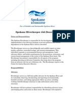 Spokane Riverkeeper Job Description 2014