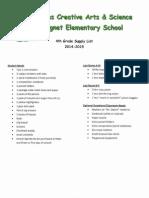 douglas 4th grade supply list