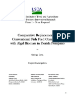 Comparative Replacement Ofconverntional Fish Feed Components With Algal Biomass in Florida Pompano