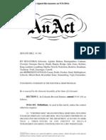 Bill Concerning the Oversight of the Industrial Hemp Program