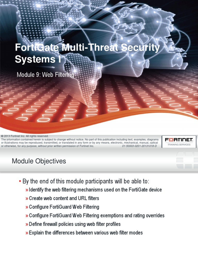 Fortinet 201 FG Web Filtering | World Wide Web | Technology