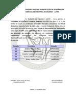 Resultado Do 1º Processo Seletivo- Lapec