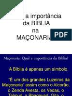 Qual a Importância Da BiBlía Na Maçonaria