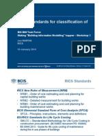 Joe Martin Classification RICS Classification of Costs