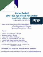 LWV 2014 Annual Meeting Invite