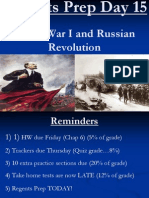 Regents Prep Day 15 World War I and Russian Revolution (2)