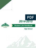Ben Lippen High School Student Life Handbook 2014-2015