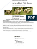 Folding Bench and Picnic Table Combo 8pages