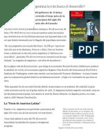 Perdió Alguna Vez Argentina La Ruta Hacia El Desarrollo