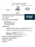 June 17, 2014 Dana Point City Council Agenda