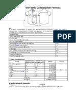 Fabric Consumption Formula