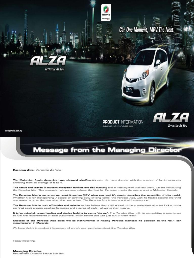 Perodua Alza  Fuel Economy In Automobiles  Anti Lock