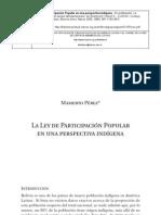 Ley de Participacion Popular en Bolivia
