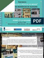Las Mujeres en El Medio de Los Medios Horizontes Mediaticos de Igualdad