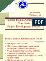 FTA New Starts Project Development Process