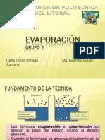 Evaporación. Grupo 2 (1)