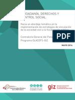 """Documento """"CIUDADANÍA, DERECHOS Y CONTROL SOCIAL"""""""