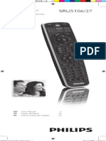 Philips Sru5106 27 Dfu Aen Learning Remote