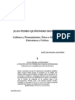 Ensayo de José Luis Molina Martínez sobre la obra de Juan Pedro Quiñonero