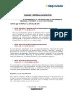 Diplomado y Especializacion Astm - Fechas- Instructores 2014