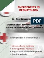 Emergency in Dermatology