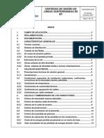 Criterios de Diseño Lineas de Bt