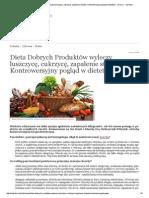 Dieta Dobrych Produktów Wyleczy Łuszczycę, Cukrzycę, Zapalenie Stawów