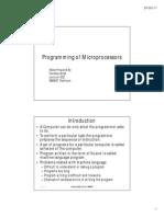Programming of MIcroprocessors