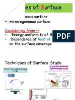 Type of Surface
