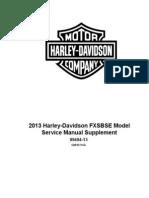 2013 HD Softail FXSBSE Supplement
