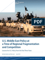 U.S. Middle East Policy at a Time of Regional Fragmentation and Competition