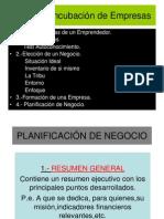Incubación-CLASE 5- Planificación de Negocio