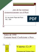 Normatividad Sismo Resistente en El Peru