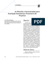Um Modelo de Planilha Informatizada para Avaliação Econômico-Financeira de Projetos