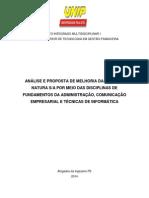 Projeto Integrado Multidisciplinar i -Final- Postagem